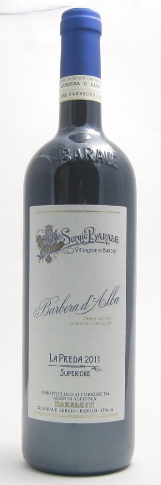 Sergio Barale Preda Barbera Italian red wine