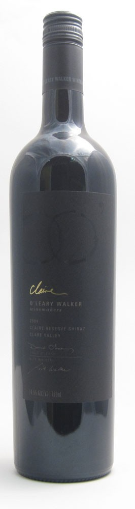 OLeary Walker Claire Reserve Shiraz Australian red wine