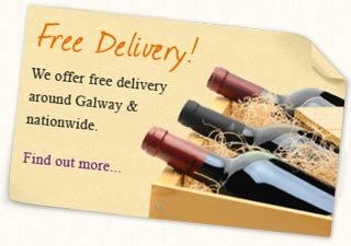 Free delivery in Galway and to all of Ireland for orders over 150 euro