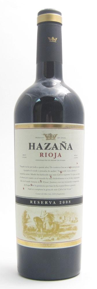 Hazana Reserva Spanish red wine