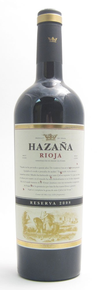 Hazana Reserva Spanish red wine
