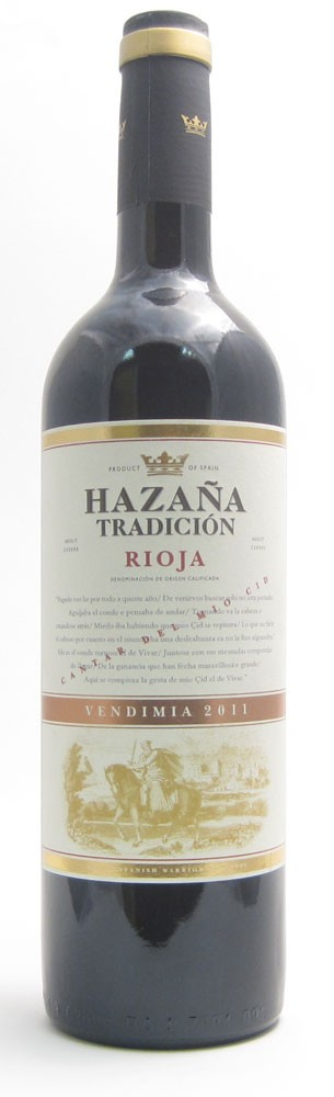 Hazana Tradicion Rioja Spanish red wine