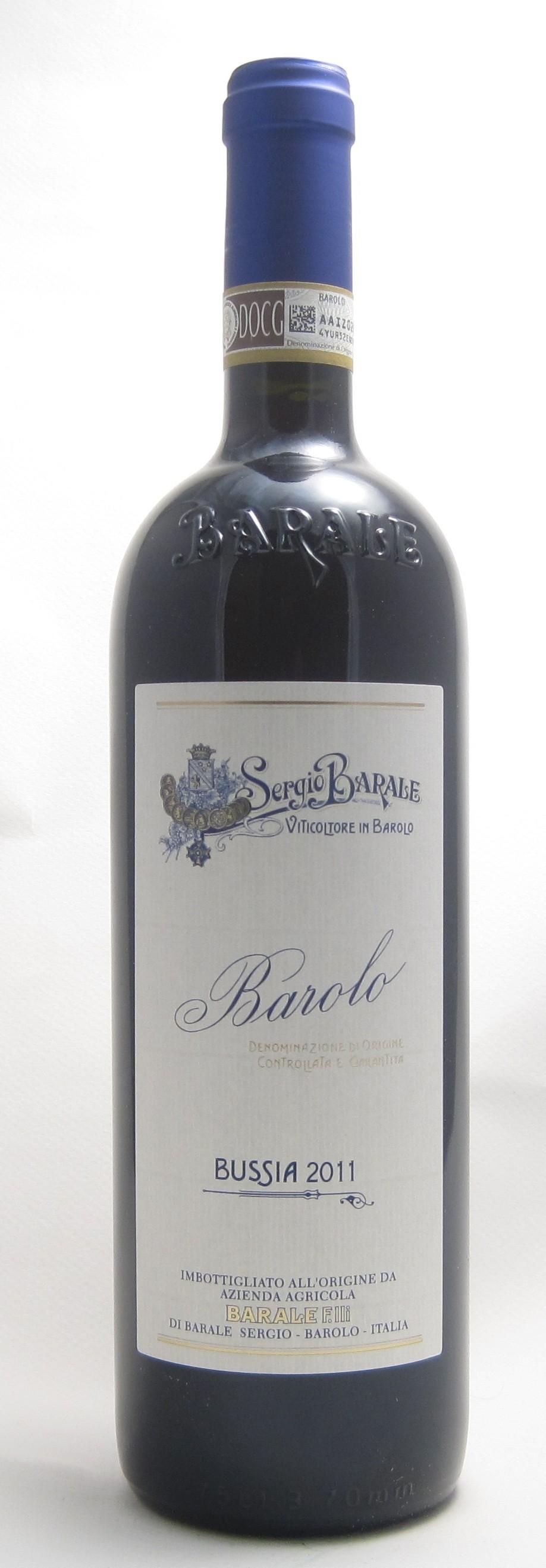 Barale 'Sergio Barale' Barolo Bussia